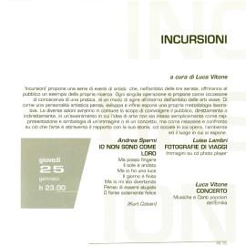 Programma di Incursioni prima edizione