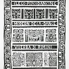 Ottobre 1981 / MODERN DECA-DANCE manifesto 70x100 per la stagione 1981-1982 dello Slego - serigrafa ad un colore