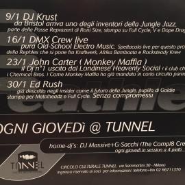 Programmazione dei giovedì del Tunnel del 1997