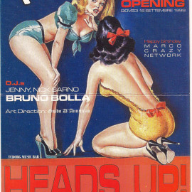 Flyer Head Up! by Guido D'Annunzio 1999